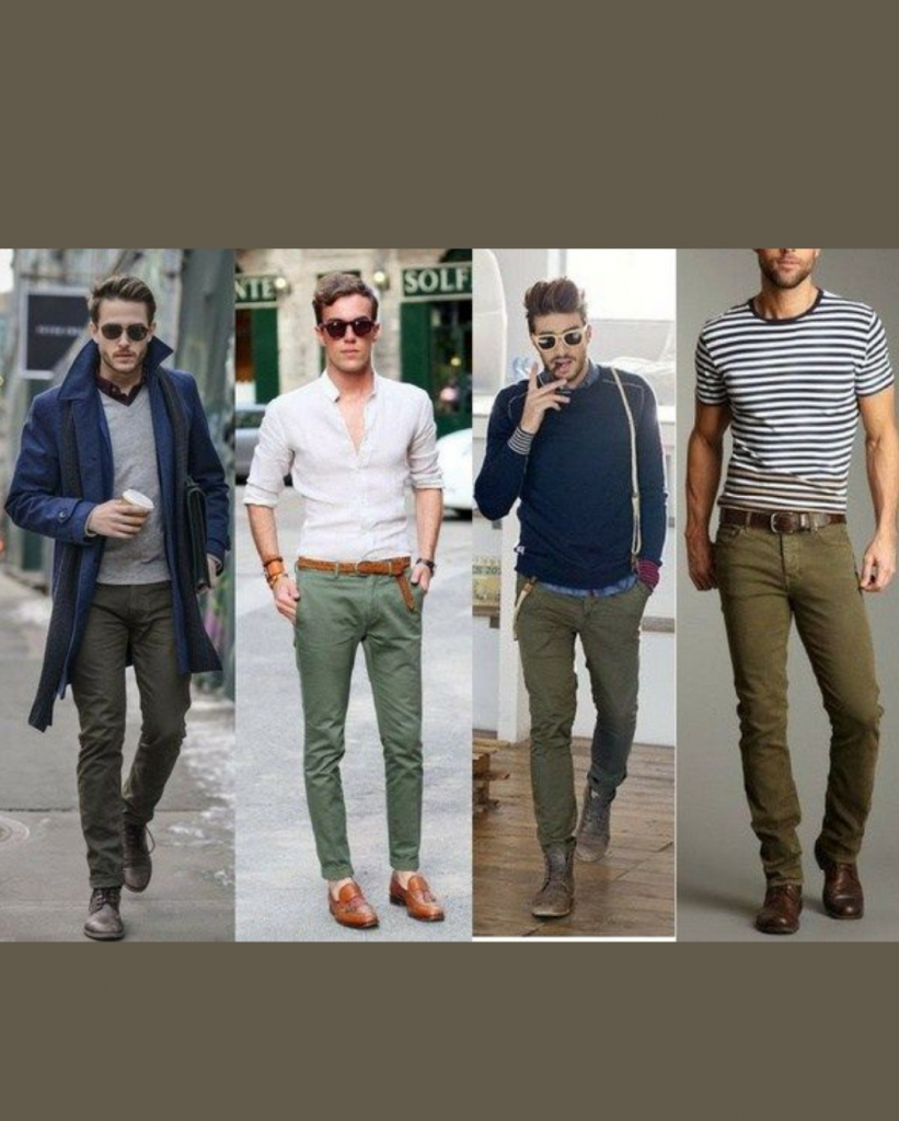 With green chinos what goes Does Green