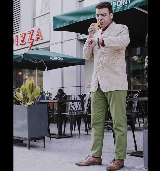 fern green chinos for men by Henry & smith