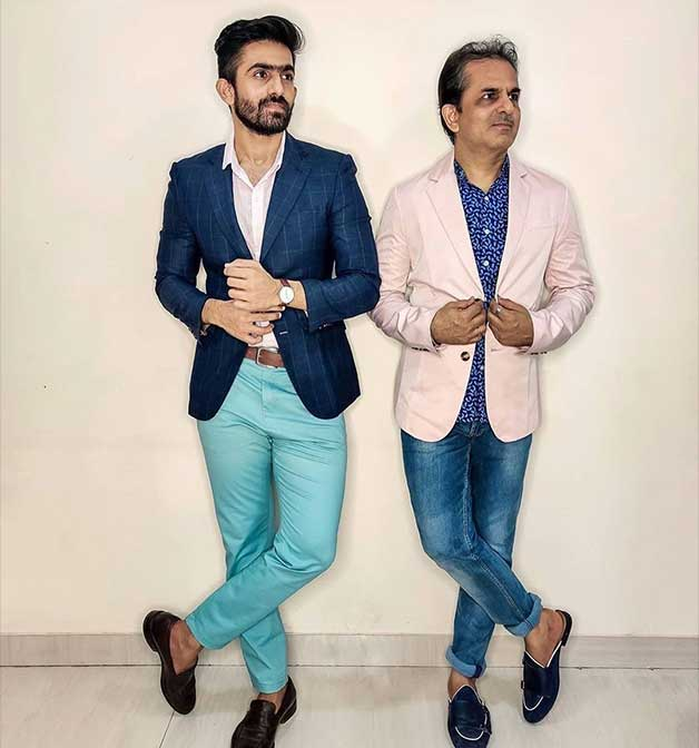 blue chinos & jeans for men for office looks