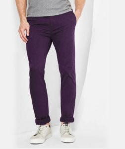 purple chinos by henry & smith