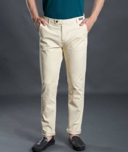 Cream trousers color for men by henry & smith