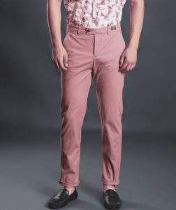 pink chinos by henry & smith