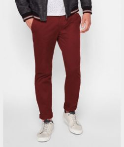 maroon trouser color for men
