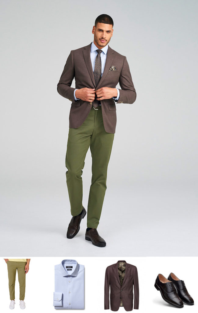 What to wear with dark khakis