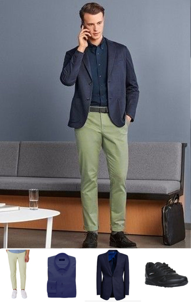 what to pair with green chinos