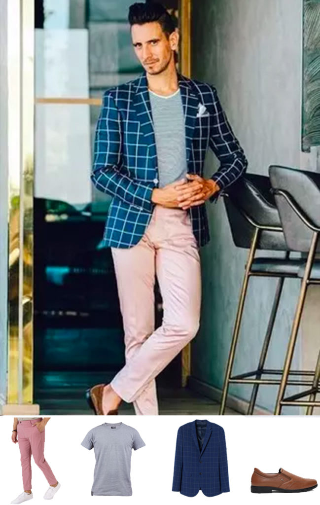 flamingo pink chinos by henry & smith