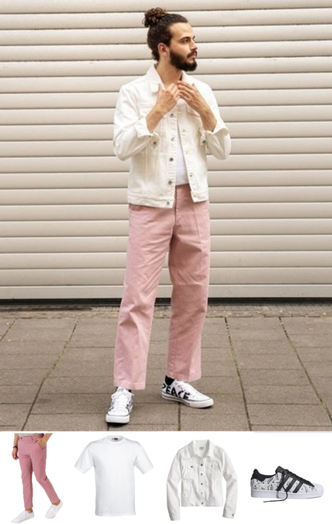 pink chinos from henry & smith